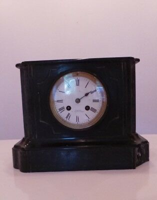Vintage French Marble CARTIER Chatellerault Japy Freres Medaille d'honneur Clock