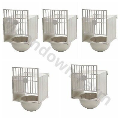 5 x PLASTIC BREEDING NEST PAN/BOX CANARY FINCH BRITISH Hooks on Cage Fronts
