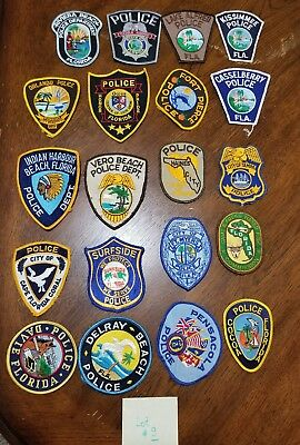 LOT OF 20 DIFFERENT POLICE PATCHES  NEW/MINT CONDITION  lot#09