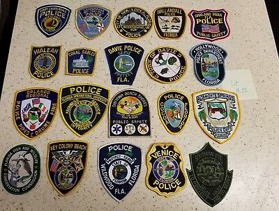 LOT OF 20 DIFFERENT POLICE PATCHES  NEW/MINT CONDITION  lot#11