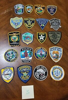 LOT OF 20 DIFFERENT POLICE PATCHES  NEW/MINT CONDITION  lot#14