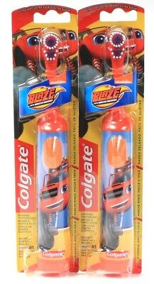 2 Colgate Blaze Monster Machine  Powered Toothbrush Soft Bristles Easy On Off