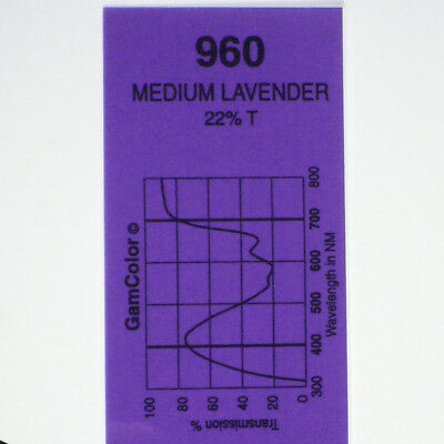 GAM  #960 Medium Lavender gel color media filter sheet