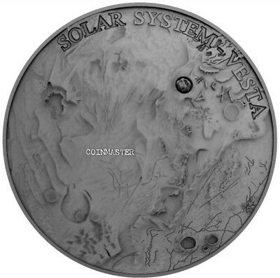 NIUE 2018 1 Oz Silver $1 VESTA Solar System METEORITE NWA 4664 Coin.  ON HANDS.