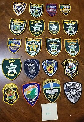 LOT OF 20 DIFFERENT POLICE PATCHES  NEW/MINT CONDITION  lot#26