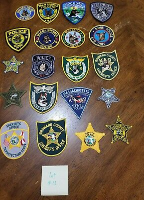 LOT OF 20 DIFFERENT POLICE PATCHES  NEW/MINT CONDITION  lot#31