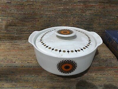 J&G Meakin Studio Ware Crockery - Inca serving pot vintage 70s