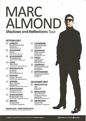 Marc Almond (of Soft Cell) Shadows & Reflections Tour Promo Flyer / Handbill x 4