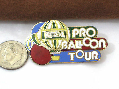 HOT AIR BALLOON Vintage Enameled Pin  *  KOOL Pro Balloon Tour