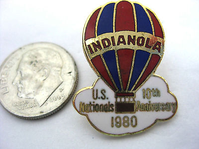 HOT AIR BALLOON Vintage Enameled Stick Pin  * INDIANOLA 10th  US Nationals 1980