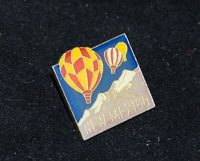 New Mexico HOT AIR BALLOON Enameled Stick Pin 3 colorful Balloons over Mountains