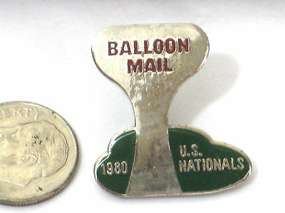HOT AIR BALLOON Vintage Enameled STICK Pin  *  balloon mail 1980 US NATIONALS