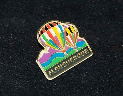 Albuquerque HOT AIR BALLOON FIESTA Enameled Stick Pin  2 Balloons over Mts