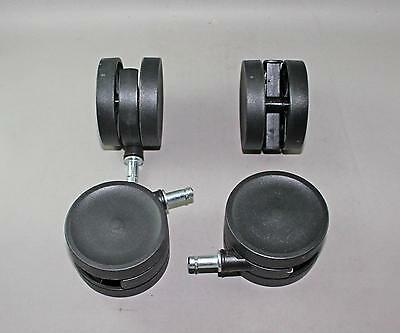 Lot of 4 Casters Elfa Style with 2.5 inch Diameter Wheel More Available