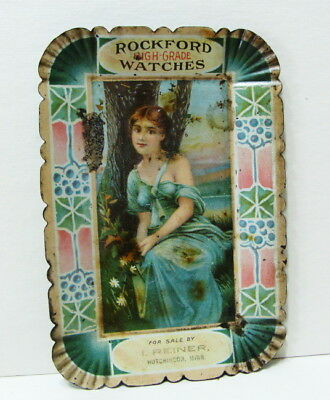 Original Rockford High Grade Watches Hutchinson Minn Tin Tip Tray