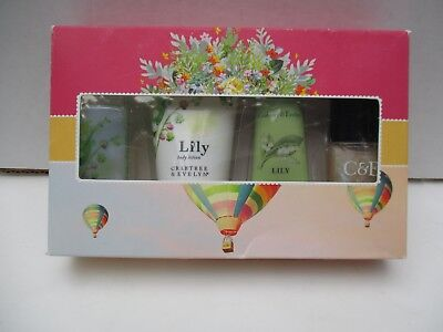 Crabtree & Evelyn Lily/Muguet Shower Gel, Body Lotion, Hand Cream, Nail Lacquer