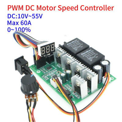 DC 10V-50V 40A PWM Motor Speed Controller CW/CCW Reversible Switch