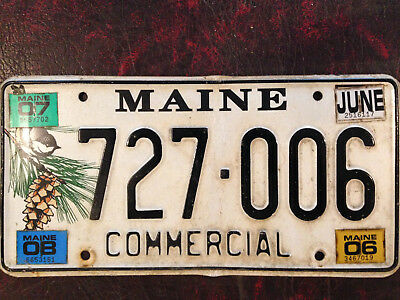Maine Chickadee Commercial License Plate