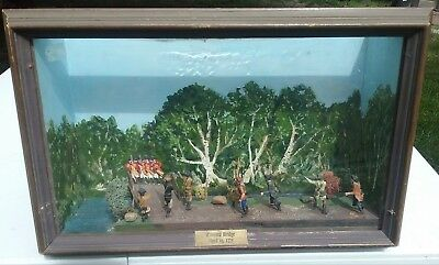 Vintage American Revolutionary War Battle Concord Bridge Shadow Box