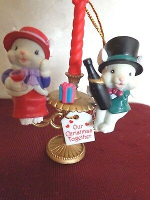 Lustre Fame Our Christmas Together Mouse Ornament (#2694).