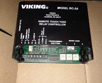 Viking RC-2A SM Remote Touch Tone Industrial Digital Controller 262186 Relay