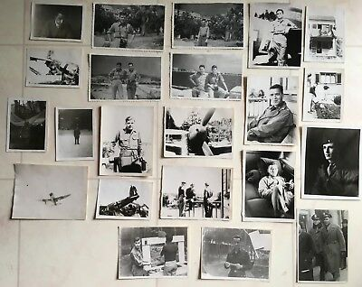 Lot (22) Wwii Photos  368Th Fighter Group Eto / P-47 Thunderbolt 9Th Af