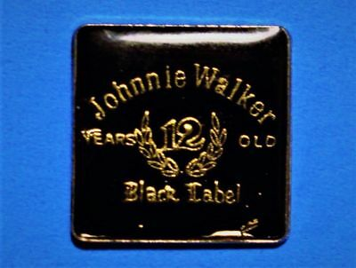 Johnnie Walker - 12 Years Old - Black Label - Scotch Whisky - Vintage Lapel Pin