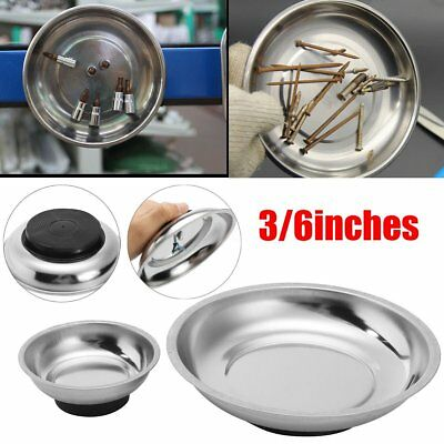3/4/6'' Magnetic Tray Stainless Steel Bowl Bolt NutS Screw Parts Plate Holder ML