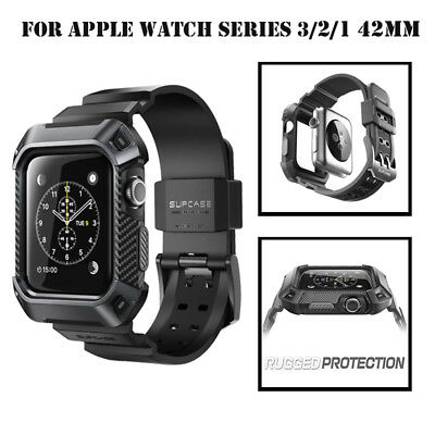 For Apple Watch S3/S2/S1 42/38mm Case,SUPCASE Rugged Protective Cover Band Strap