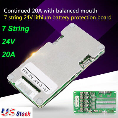 7S 20A 20V Li-ion Lithium 18650 Battery BMS PCB Protection Board Cell Balance