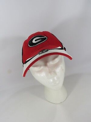 e03333ff209 University Of Georgia Bulldogs Baseball Hat Cap Red Black Wool Blend JH