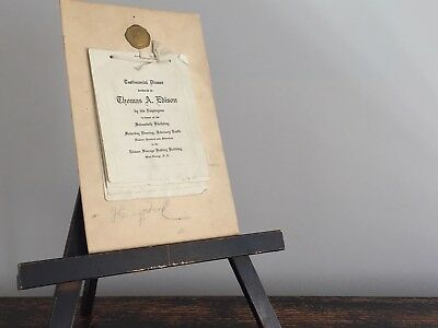 Antique Henry Ford Autograph, Thomas Edison Birthday Invitation, 1917