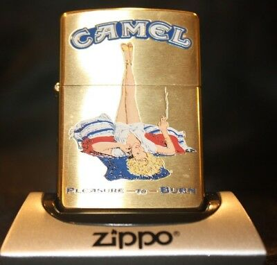Camel Zippo CZ 332 - Pleasure to Burn Ginger - 200 Made! - Mint in Matching Tin