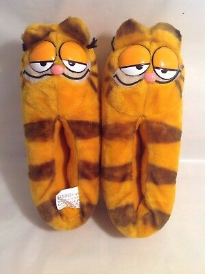 Vintage Garfield House Slippers Shoes Adult Size Large 8-9 1978 - Collectible