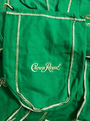 crown royal bags green 1Liter Lot Of 15