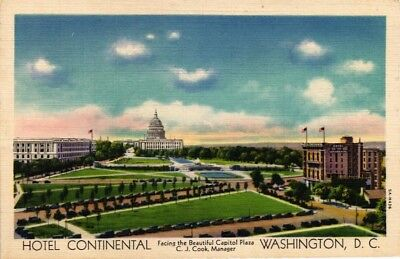 Dr Jim Stamps Us View From Hotel Continental Washington Dc Linen Postcard