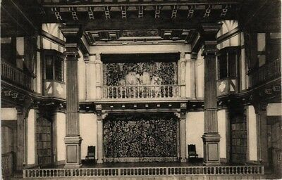 Dr Jim Stamps Us Interior View Folger Shakespeare Library Washington Postcard