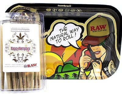 "50 King Size Cones Plus The RAW""RAW Brazil"" by JBatista Rolling Tray"