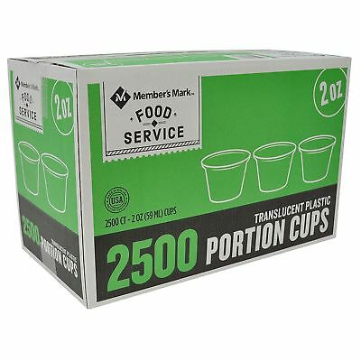 2oz Clear Plastic Portion Cups Sauces/Sides Food Service Disposable 2500 ct.