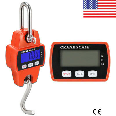 660 Lbs 300kg Digital LCD Hanging Scale Mini Crane Scale Industrial Heavy Duty