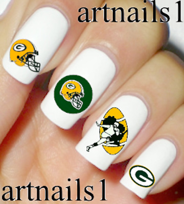Green Bay Packers Football Nail Art Water Slide Decal Sticker Salon Polish Mani