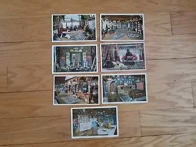 Vtg Fred Harvey Postcard Lot Interiors Of Indian Building Albuquerque New Mexico