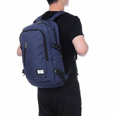 Laptop Backpack with USB for Men and Women Water Resistant Travel Bags Fit 15.6