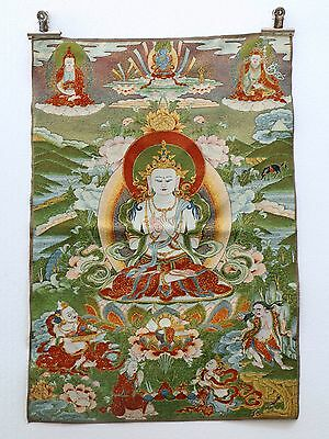 Tibet Collectable Silk Hand Painted Guanyin Painting a1032