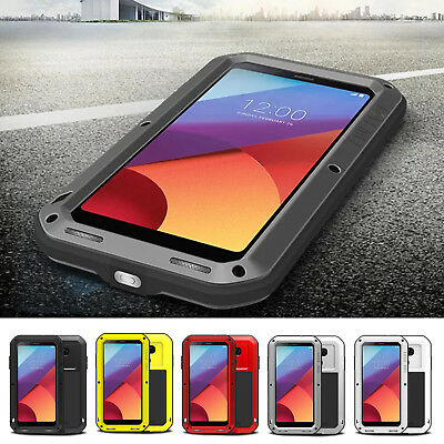 for LG V20 G6 LOVE MEI Shockproof Waterproof Dirtproof Gorilla Metal Armor Case