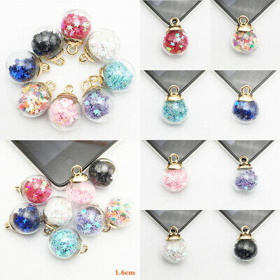 10pcs 16mm Crystal Glass Ball Sphere Charms DIY Jewelry Pendant Chain Necklace