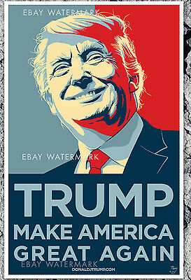 RARE Donald Trump Make America Great 2016 Official Campaign Poster  11x17 Poppy