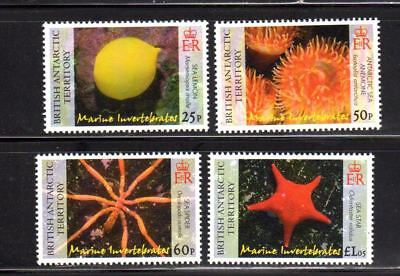 18-41. British Antarctic Territory 2007 invertebrate stamps Scott# 382-385 MNH