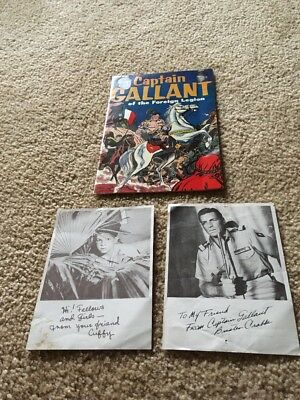 Vintage Captain Gallant Of The Foreign Legion Heinz Comic +signed Photos