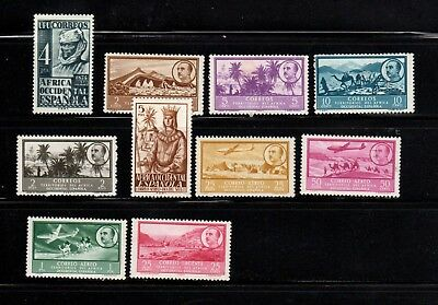 18-23.  Spanish West Africa, collection of 10 mint stamps 1949-1951